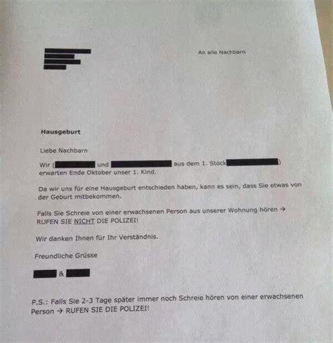 Musterschreiben Nachbarn Wegen Renovierung 35 Nachbarn Die Unbedingt Zettel In Den Flur H 228 Ngen Mussten