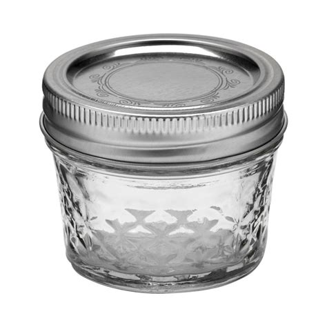 Kerr 4 oz Clear Quilted Crystal Canning Jelly Jars   12 Pk