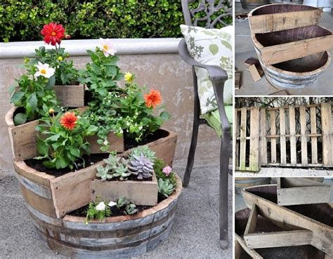 home design garden architecture blog magazine diy recycled barrel planter home design garden