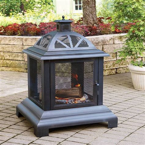 Outdoor Steel Fireplace by Outdoor Fireplace