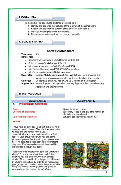 english themes for grade 5 exle of lesson plan for grade 5 english the 5 minute