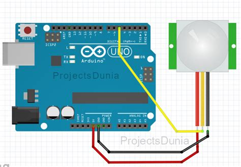 how to interface pir sensor with arduino projectsdunia
