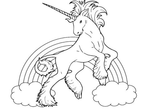 unicorn with rainbow coloring page free coloring pages of rainbow unicorn