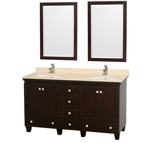 60 Inch Bathroom Vanities Wyndham Collection Wcv800060desivunsm24 Acclaim 60 Inch Bathroom Vanity In Espresso