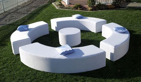 white furniture package  happy party event rentals