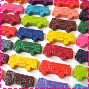 Crayon Favors by Trucks Crayon Birthday Favors By