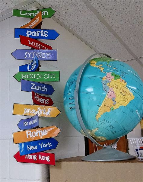 travel theme travel theme directions sign classroom themes travel