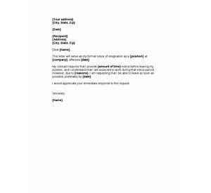 62+ Resignation Letter Format With Notice Period For Software ...