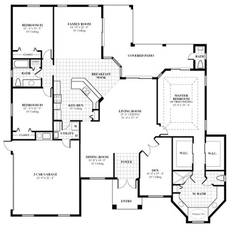 Custom Home Builder Floor Plans by Florida Home Builder Woodland Enterprises Poplar Home