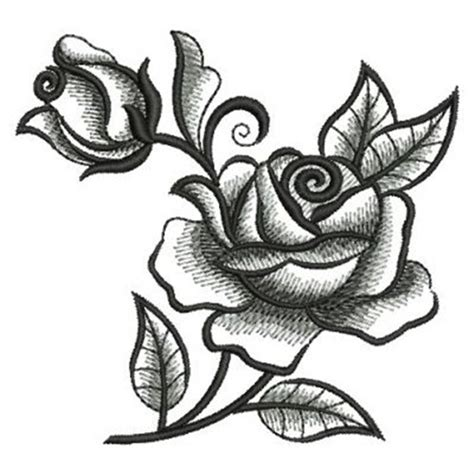 black and white embroidery patterns blackwork roses embroidery designs machine embroidery