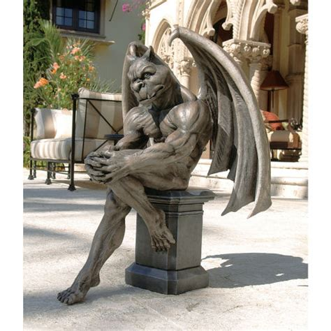 Gothic Victorian House by Socrates The Gargoyle Thinker Statue