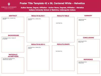 Eposter Template by Powerpoint Poster Printing Office Of Visual Media