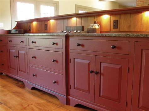 Historical Barn Red Kitchen