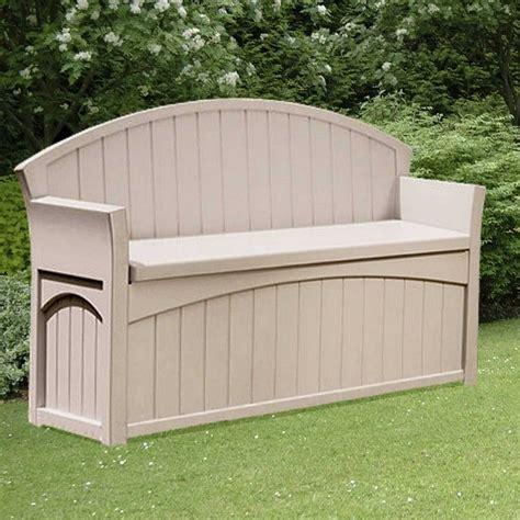 suncast patio storage bench suncast patio storage bench 189l garden street