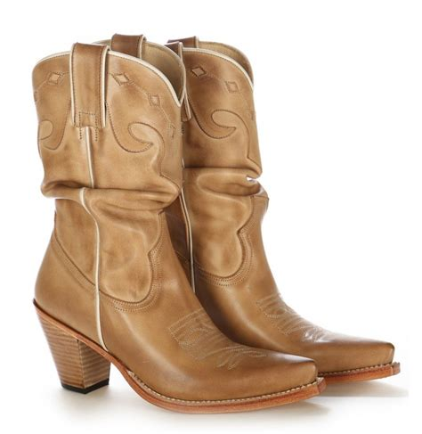 classic beige leather cowboy boots for high quality