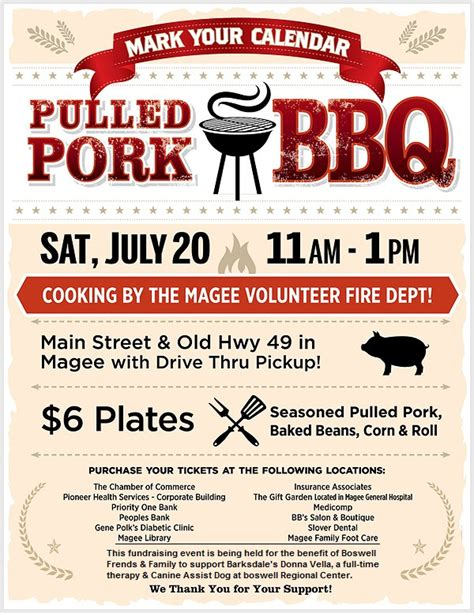 bbq fundraiser flyer template bbq fundraiser flyer template images
