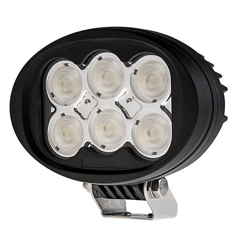 6 oval led lights led work light 6 quot oval 60w 5 400 lumens led work