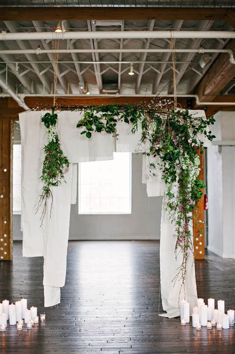 dreamy indoor wedding ceremony backdrops deer pearl