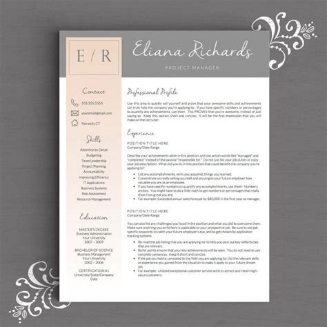 color resume templates design free download word template versions