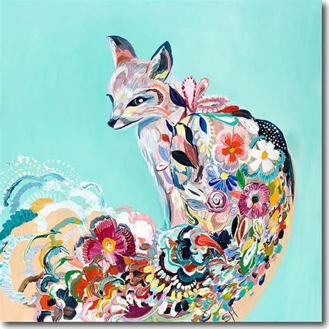 Lipstik Hare Ori Colorfull aqua floral fox artwork crown interiors