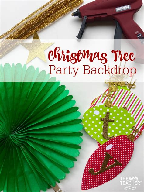 backdrop design christmas party how to diy a christmas tree party backdrop design dazzle