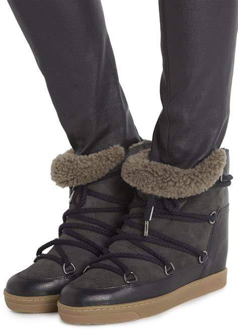 isabel marant boots sale isabel marant nowles snow boot in black lyst