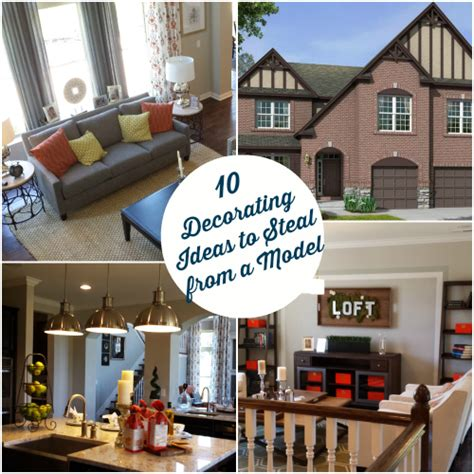 ideas for decorating a house 10 decorating ideas spotted in a model home hooked on houses