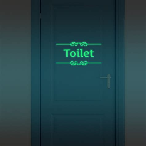 Stiker Glow In The Luminous Stickers 25 5cm luminous stickers toilet bathroom removable sticker glow in the wall door decor