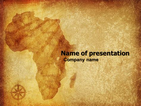Africa Presentation Template For Powerpoint And Keynote Ppt Star Africa Powerpoint Template