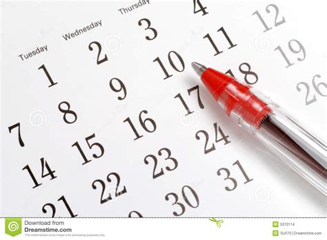 Sell Calendar Photos Pen On Calendar Stock Images Image 5370114