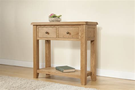 Oak Console Table With Drawers by Shrewsbury Oak Console Table With 2 Drawers Oak