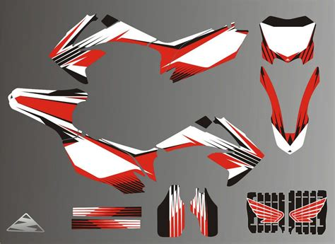 motocross helmet decals honda crf 250 stickers race stickers decals helmet decal