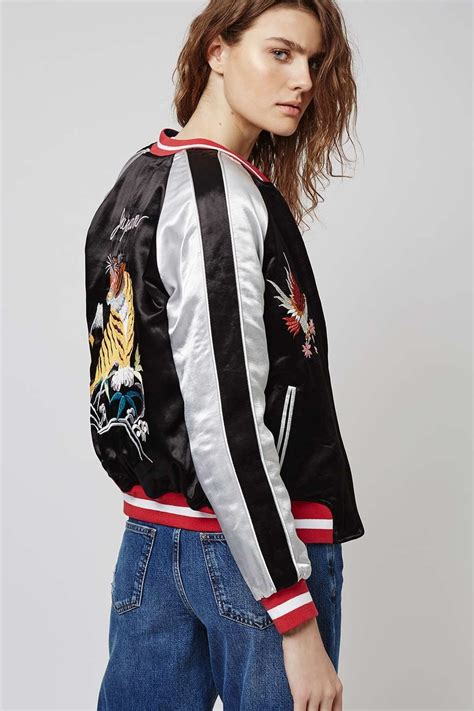 Boomber Jacket two in one reversible sateen bomber jacket topshop