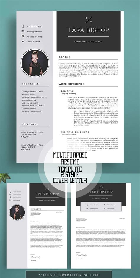 impressive resume templates word new professional cv resume templates with cover letter