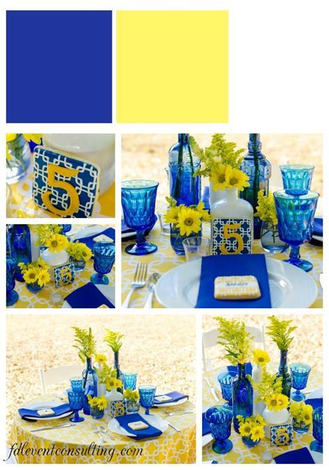 Cobalt Blue and Yellow Tablescape // Pensacola Wedding