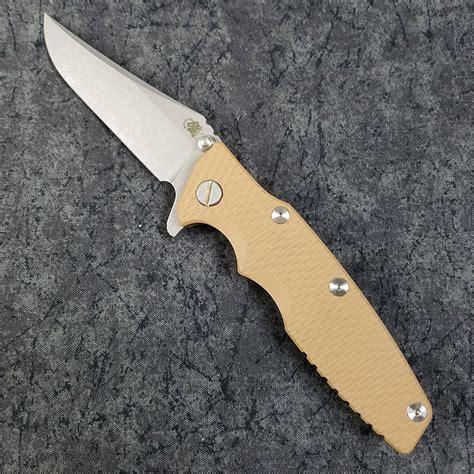 hinderer eklipse rick hinderer eklipse 2 knife 3 5 inch bowie blade