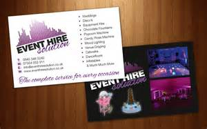 event management business card designs event hire solutions business card design dfcreative