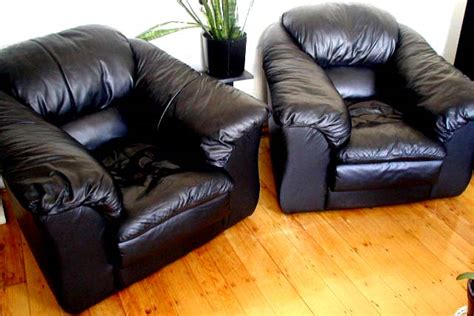 Black Leather Comfy Chair by Furniture