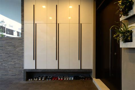 Dining Room Storage Cabinets four level terrace house in singapore by knq associates