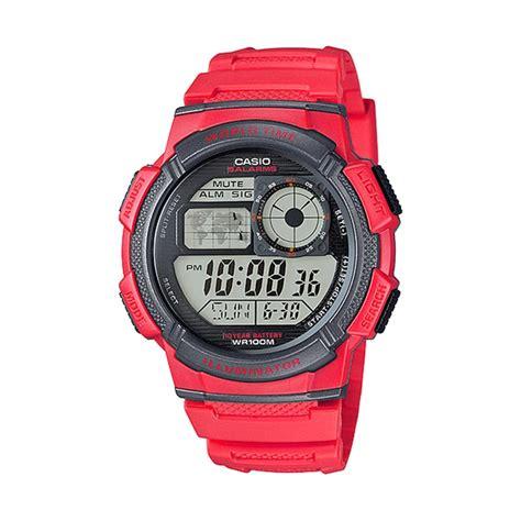 Casio Original Word Time harga jam tangan casio illuminator ae 1000 original