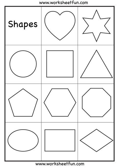 Worksheets For Preschool About Shapes | preschool shapes worksheet crafts activities pinterest