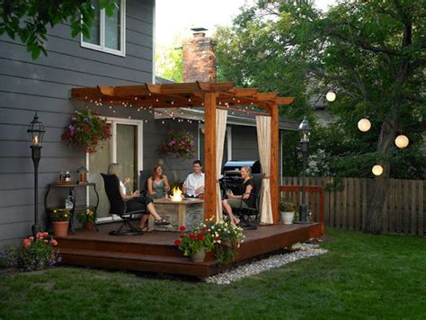 cute backyards nice pergola sitting area exactly what we plan to do in
