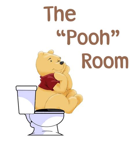 winnie the pooh bathroom winnie the pooh bathroom sign by dylansdisdesigns on etsy