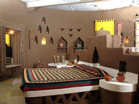 rajasthani mud hut interior  indian style bedrooms