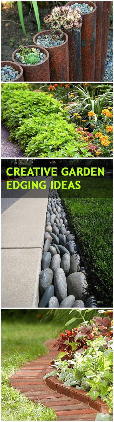 Creative Garden Edging Ideas 1000 Ideas About Garden Edging On Pinterest Metal Garden Edging Concrete Garden Edging And