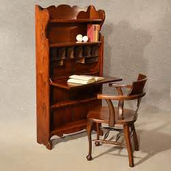 writing desk with shelves antique bureau writing study desk bookcase oak antiques