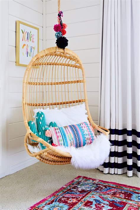 Trendspotting hanging chairs are swinging into kids design project nursery