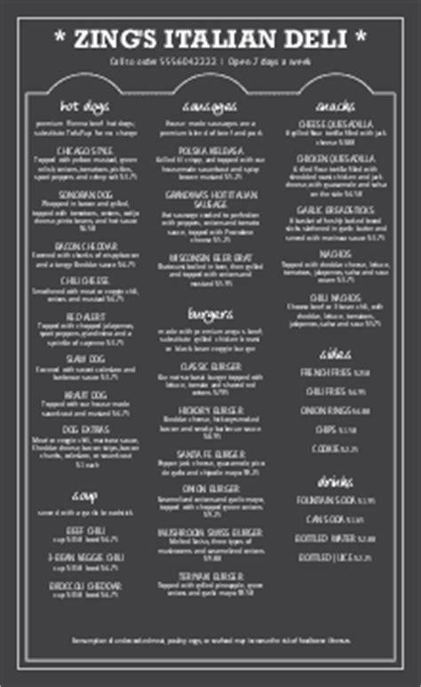 Restaurant Menu Templates - MustHaveMenus