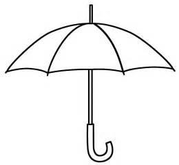 umbrella coloring page free image