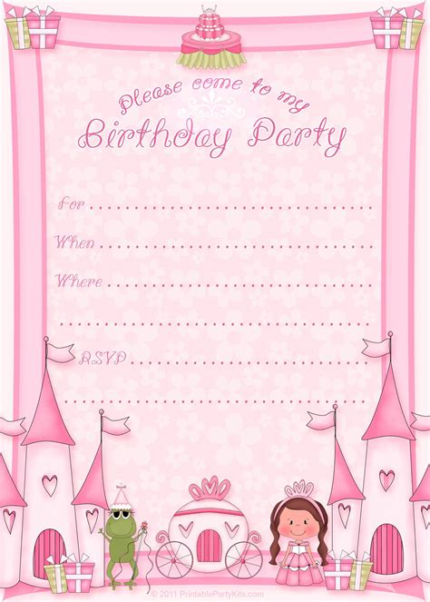 birthday invitations templates free printable free printable invitations templates